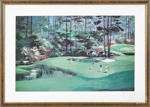 Three golfing lithographs