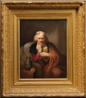 KPM Porcelain Plaque of Christopher Columbus in Chains