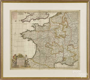 Early engraved map of France