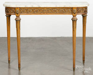 Italian marble top pier table