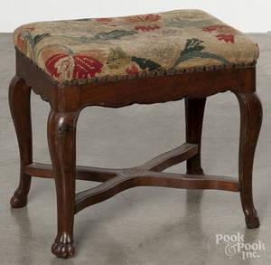 French mahogany foot stool