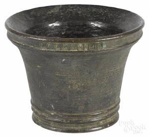 Large bronze mortar