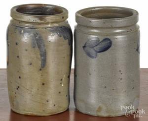 Two Pennsylvania stoneware jars