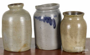Three Pennsylvania stoneware jars