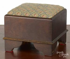 Miniature walnut stool