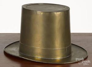 Brass hat trade sign