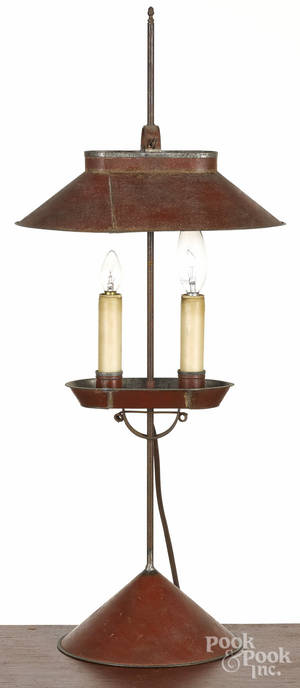 Contemporary Jerry Martin painted tin lamp