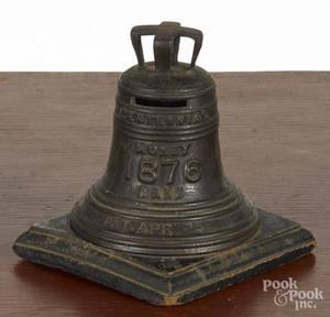 Baileys cast iron Centennial Liberty Bell still bank