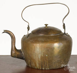 American copper tea kettle