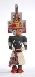 Hopi Carved Wood Hemis Kachina by White Bear Fredericks