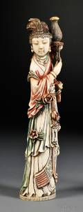 Polychrome Ivory Carving