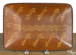 Redware loaf dish 19th c