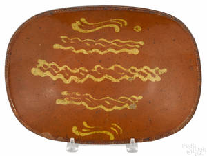 Pennsylvania redware loaf dish 19th c