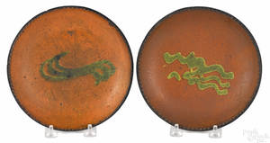 Two Pennsylvania redware plates 19th c
