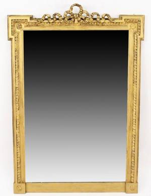 19th C Italian Gilt Wood Mirror