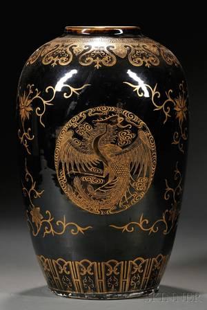 Mirror Black Vase