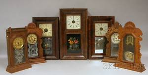 Seven Connecticut Mantel Clocks