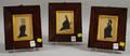 Three Framed Profile Portrait Miniatures