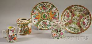 Five Chinese Export Porcelain Table Items