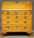 Chippendale Tiger Maple Slantlid Desk