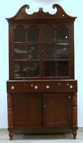Country Classical Glazed Pine Scrolltop Cupboard