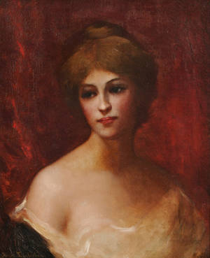 Anna C Eggleston American 20th Century Portrait of a Young Beauty