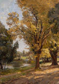 Theodor Wedepohl American 18631931 Early Fall Landscape
