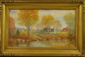 Winfield Scott Clime American 18811958 Sunny Autumn Landscape