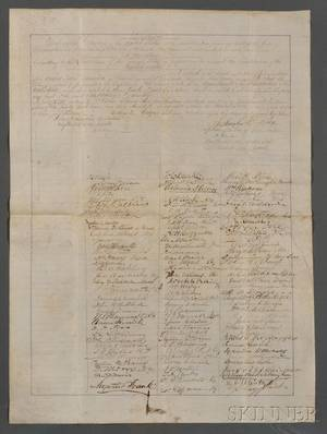 Constitutional Amendment and Slavery Historically Important Petition Proposing th e XIII Amendment Abolishing Slavery