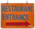 Painted plywood  Restaurant Entrance  sign