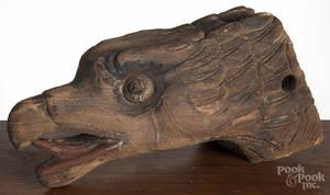 Contemporary carved eagle masthead