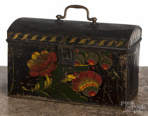 Painted toleware document box