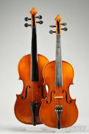 Two German Violins Meisel Workshop c 1970