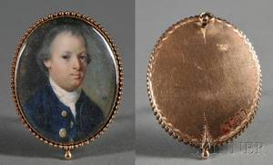 Henry Pelham After John Singleton Copley American 17491806 Portrait Miniature of Adam Babcock