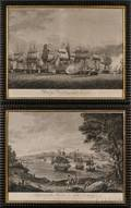 B Tanner engraver and publisher Philadelphia 19th Century Lot of Two Engravings After H Reinagle Macdonoughs Victory on Lak