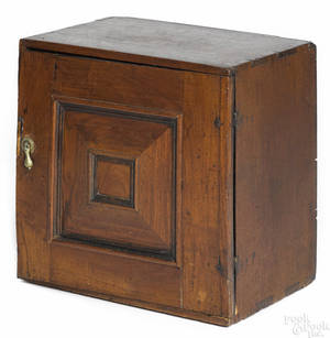 George I yewwood spice cabinet early 18th c