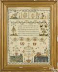 English silk on linen needlework