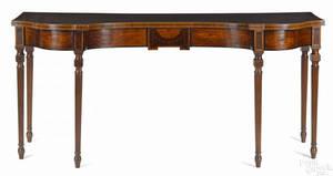 George III inlaid mahogany sideboard late 18th c