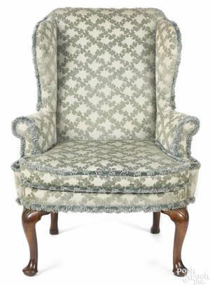 George II mahogany easy chair ca 1750