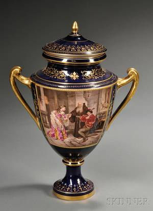 Vienna Porcelain Urn and Cover