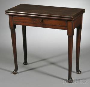 Queen Anne Mahogany Gateleg Game Table