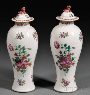 Pair of Chinese Export Porcelain Vases