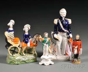 Four Victorian Staffordshire Figures