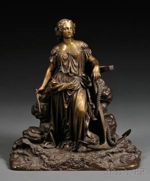 Bronze Allegorical Figure of Hope