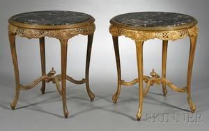 Pair of Giltwood MarbleTop Tables