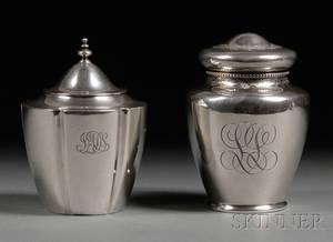Two Sterling Tea Caddies