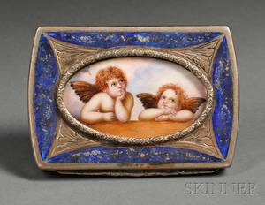 Italian Silver and Enamel Snuff Box