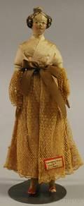 Papiermache Milliners Model Doll