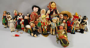 Group of Assorted Dolls