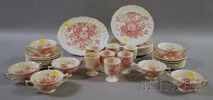 Thirtynine Piece Royal Doulton The Kirkwood Pattern Ceramic Partial Dinner Set